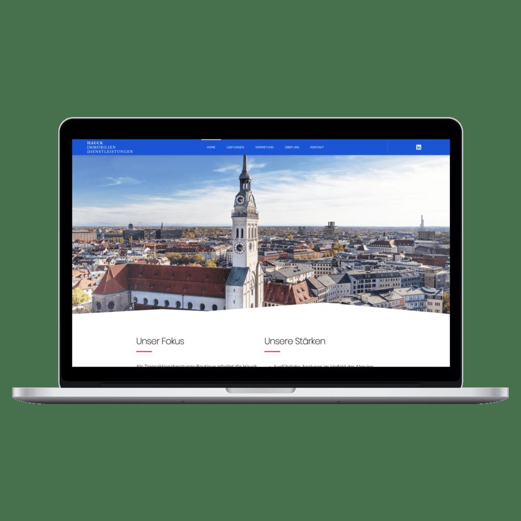 Hauck Immobilien Dienstleistungen Webseite